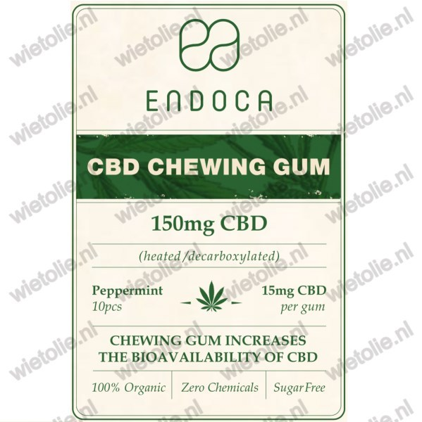 CBD-kauwgom Endoca voorkant