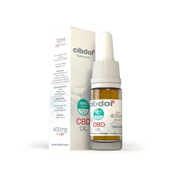 CBD-olie (puur) Cibdol 4% – 10 Ml – 400 Mg CBD