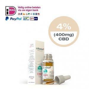 CBD-olie Cibdol 4 procent CBD 10 ml