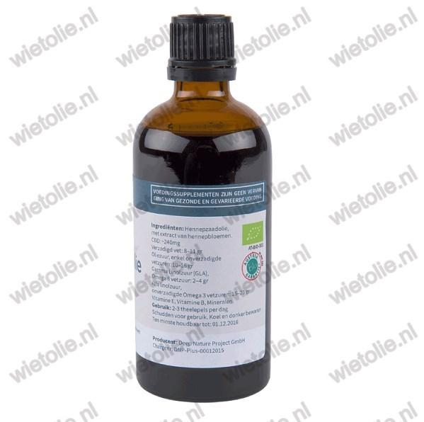 Biologische Hennepzaadolie Plus (CBD)