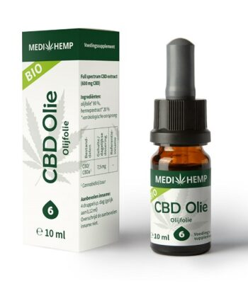 CBD olie Medihemp raw 10 ml 600 mg CBD