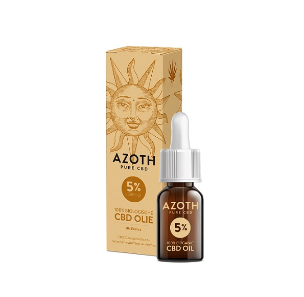 CBD-olie (puur) Azoth 5% – 10 Ml – 500 Mg CBD