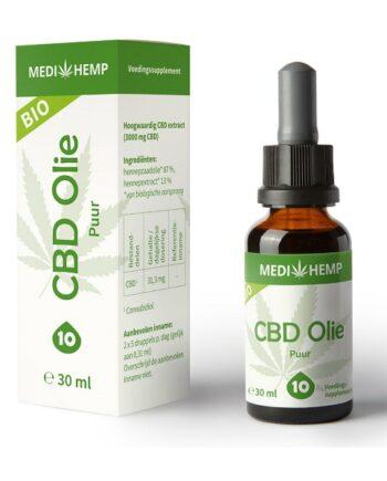 CBD olie Medihemp puur 30 ml 3000 mg CBD