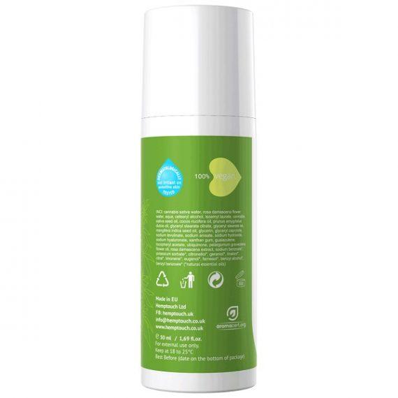CBD-crème Hemptouch 50 ml I Kalmerende gezichtscrème achterkant