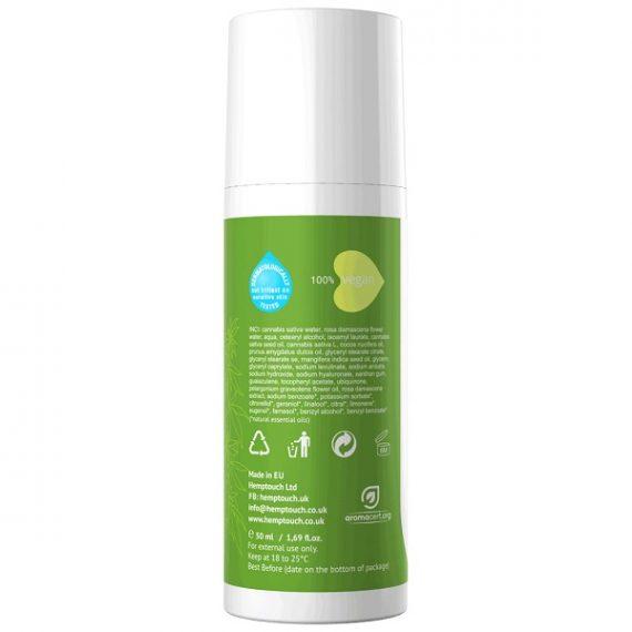 CBD-crème Hemptouch 50 ml I Verzorgende gezichtscrème achterkant