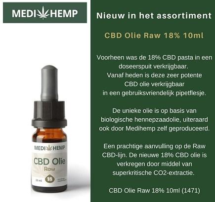 Medihemp Raw CBD-olie 18 Procent