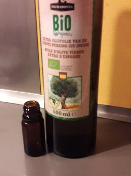 pure hasjolie aanlengen met olijfolie