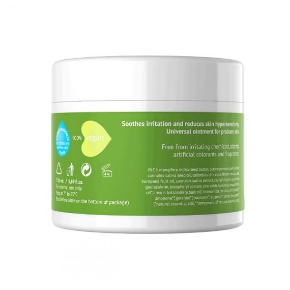 CBD-zalf Hemptouch – 50 ml (geirriteerde huid) ingredienten