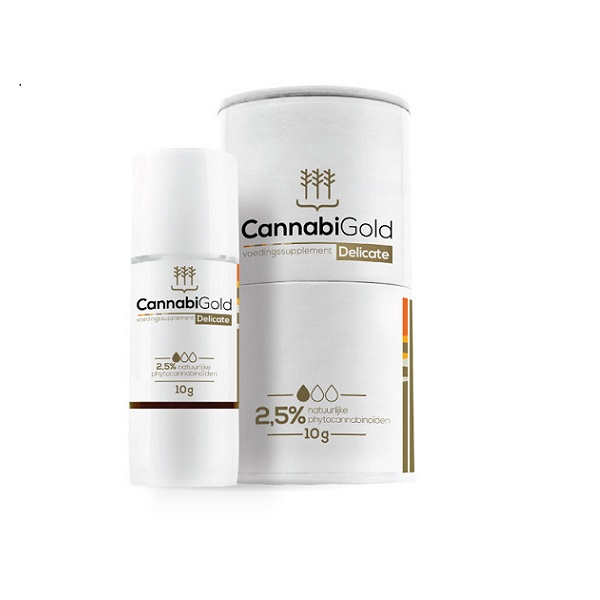 CBD-olie (puur) Cannabigold Delicate 2,5% – 11 Ml