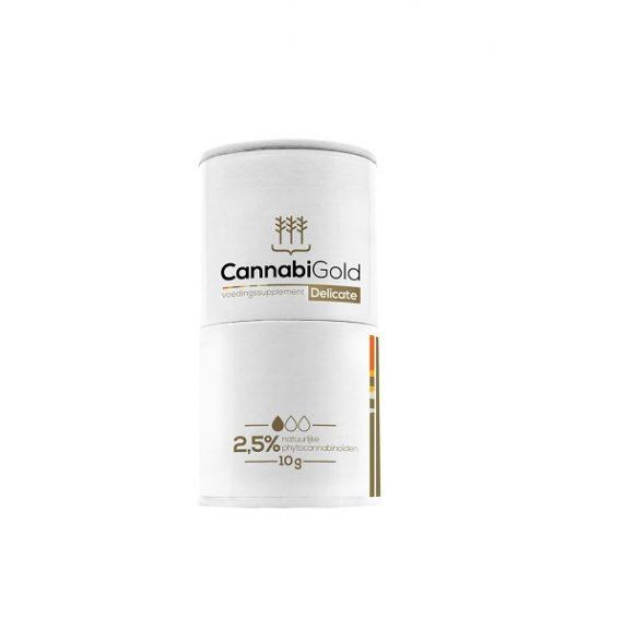 Cannabigold CBD-olie Delicate verpakking