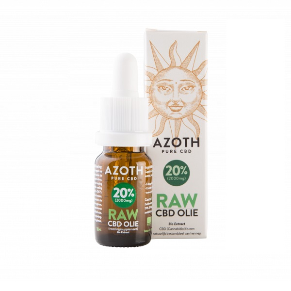 CBD-olie (raw) Azoth 20% – 10 Ml – 2000 Mg CBD