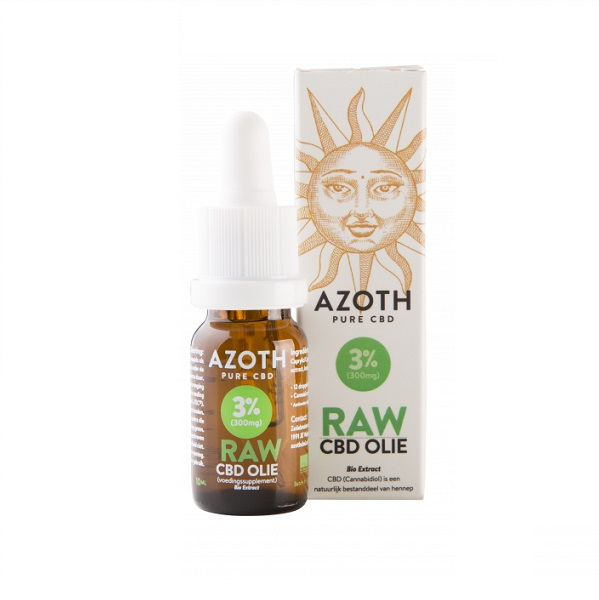 Cbd olie biologisch raw azoth 3 procent 10 ml
