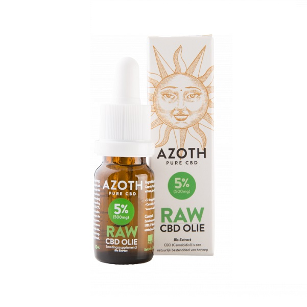 cbd olie biologisch raw azoth 5 procent 10 ml