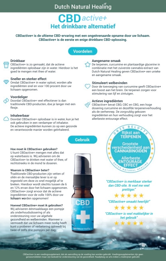 CBD wateroplosbaar Dutch Natural Healing