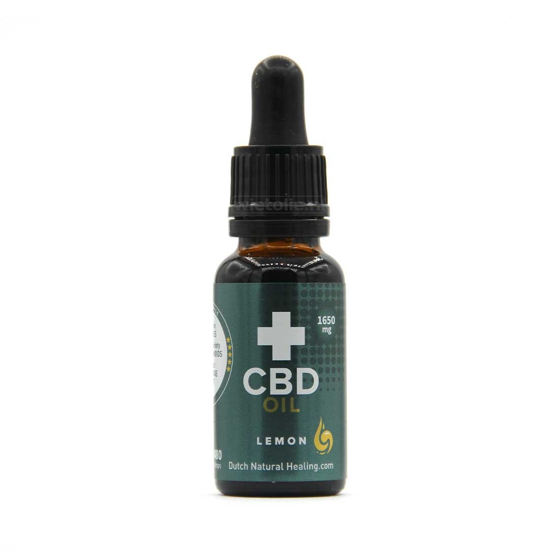 CBD-olie Dutch Natural Healing 8 procent 20 ml citroen 1