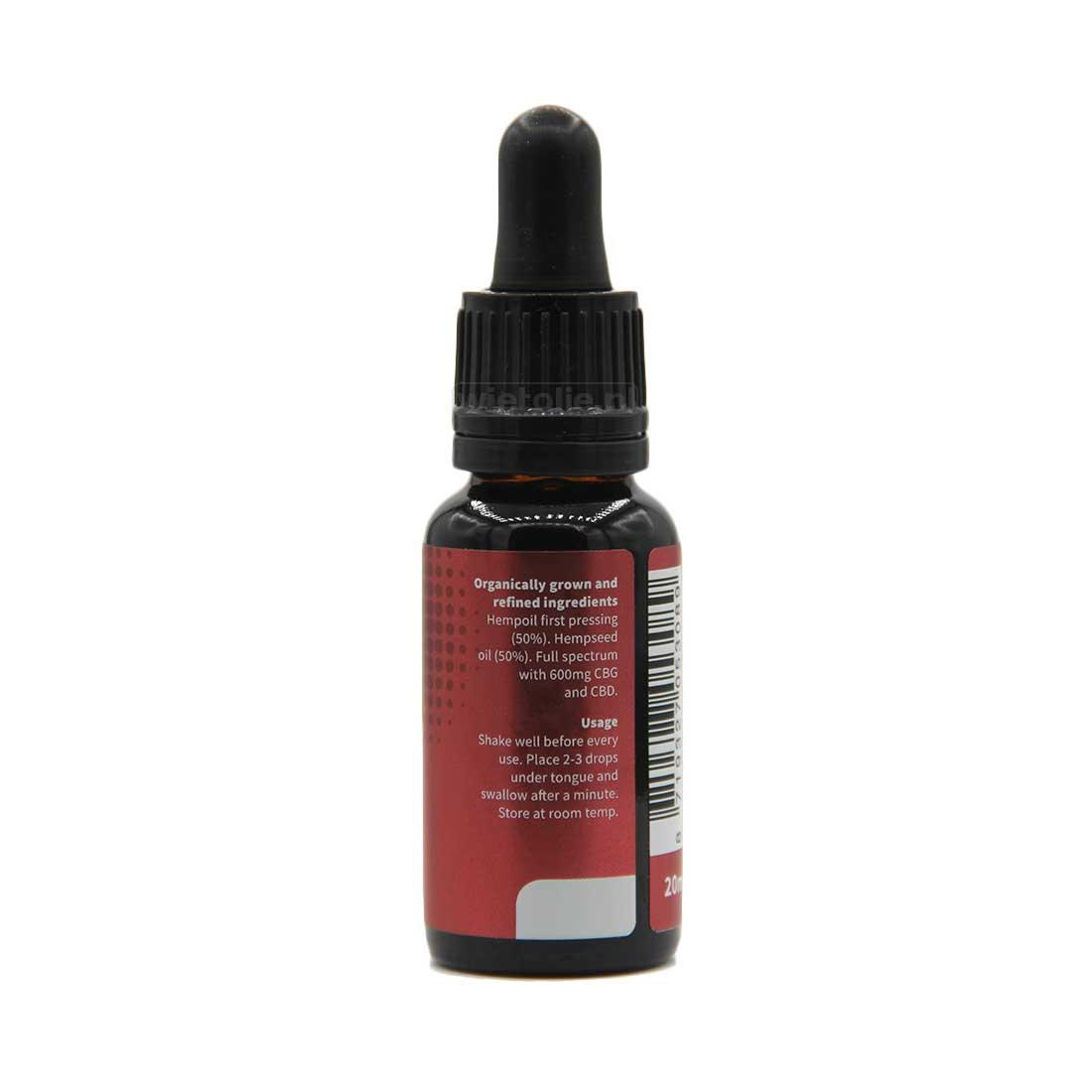 CBG-olie Dutch Natural Healing 3 procent 20 ml 3