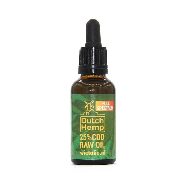 CBD-olie (raw) – Dutch Hemp 25% – 30 Ml – 7500 Mg CBD