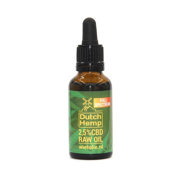 CBD-olie (raw) – Dutch Hemp 2,5% – 30 Ml – 750 Mg CBD