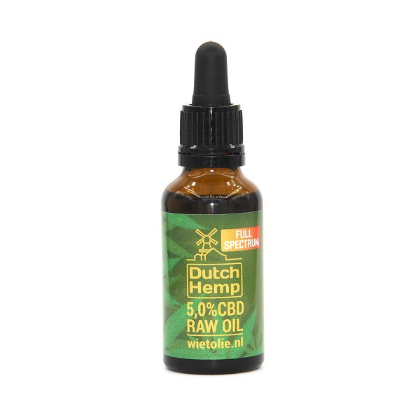 CBD-olie (raw) – Dutch Hemp 5% – 30 Ml – 1500 Mg CBD