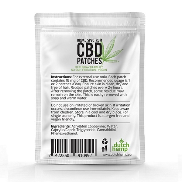 CBD pleisters Dutch Hemp 2
