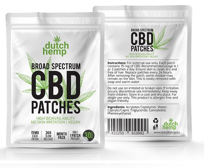 CBD pleisters Dutch Hemp 3