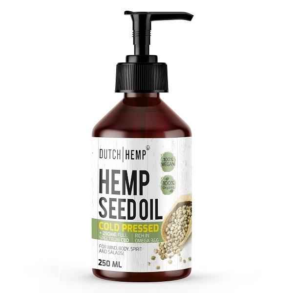 Hennepzaadolie Met CBD – Dutch Hemp – 250 Mg