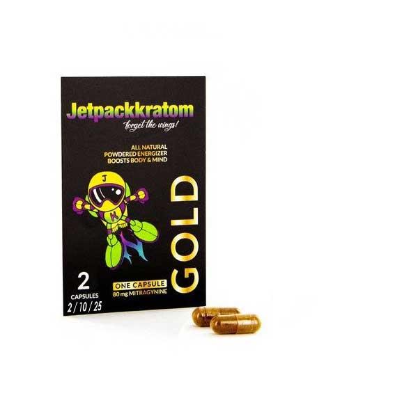 Kratom Capsules – Jetpackkratom – 'gold'