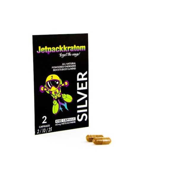 Kratom-capsules-jetpackkratom-silver