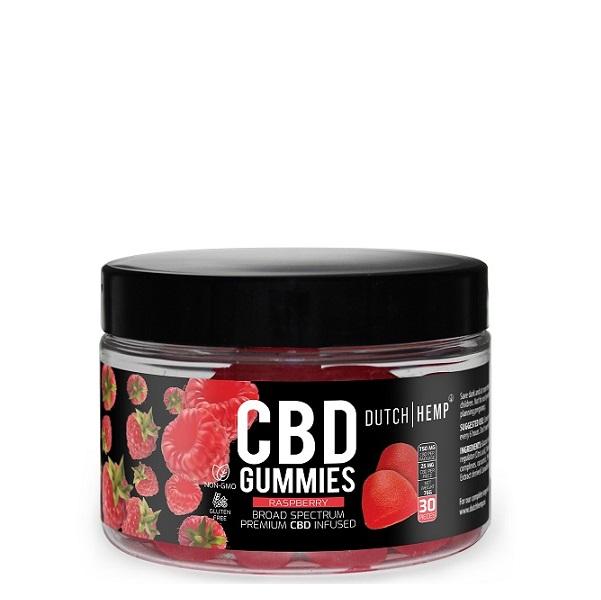 CBD-gummies (broad Spectrum) Raspberry – Dutch Hemp – 750 Mg